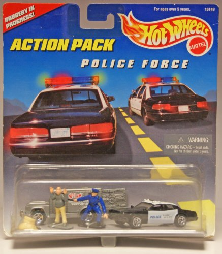 Hot Wheels Action Pack Police Force Robbery in Progress
