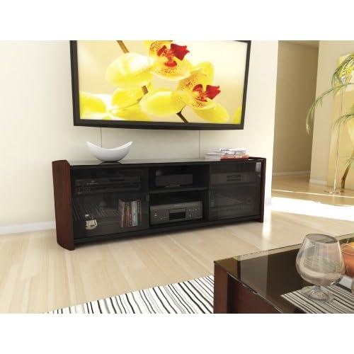 Sonax ML-3609 Milan TV Bench with Real Wood Veneer, 60-Inch