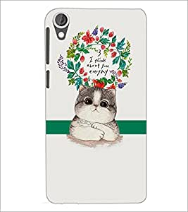 PrintDhaba Quote D-2875 Back Case Cover for HTC DESIRE 820 (Multi-Coloured)