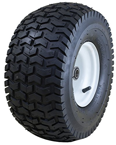 Marathon Industries 20346 Marathon 15×6.50-6″-Inch Pneumatic Tire with Turf Tread – 3″ Centered Hub – 3/4″ Precision Ball Bearings