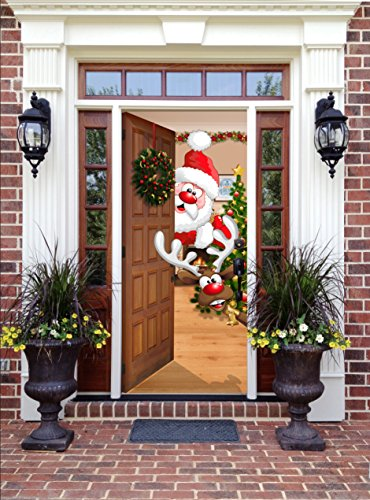 Christmas Decorations For Neighborhood Entrances : Top best christmas door cover for sale product
