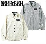 (ゼファレン)ZEPHYREN EMBLEM SHIRT L/S シャツ XL BLACK STRIPE