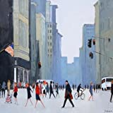 5th Avenue - New York By Barker, Jon - Fine Art Print On CANVAS : 23.5 X 23.5 Inches