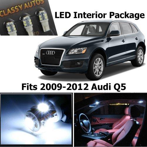 Classy Autos Audi Q5 White Led Lights Interior Package Kit 8R (12 Pieces)