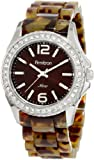 Armitron Women&#8217;s 753935BNTO Swarovski Crystal NOW Silver-Tone and Tortoise Resin Bracelet Watch