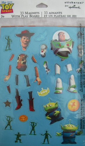 Disney Pixar Toy Story 33 Magnets With Play Board Stickeroni