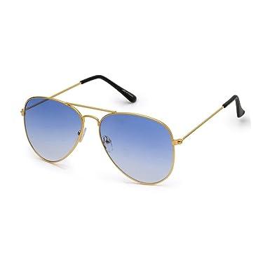silver aviator sunglasses  Silver Kartz Unisex Aviator Sunglass (AV010, Blue, Free Size ...
