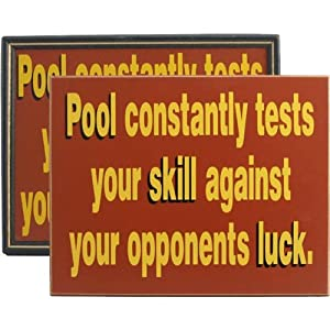 Handcrafted Wooden Sign - Pool Constantly Tests