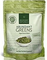 Raw ORGANIC Green Superfood Powder - Premium Super Greens Supplement - 38 Servings - Boost Energy & Vitality - Pleasant & Refreshing - Abundant Vitamins, Minerals, Antioxidants, Pre & Probiotics - Exclusive to Amazon