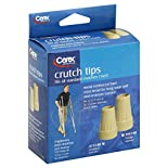 Carex Crutch Tips, Fits All Standard Crutches, 1 set
