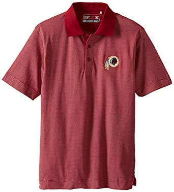 NFL Washington Redskins Mens DryTec Resolute Polo Knit Short Sleeve Top by Cutter & Buck