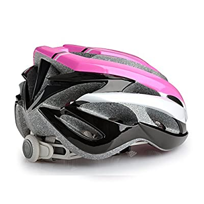 Road racing bike helmet for Unisex adults men/Women in Pink and black mixed Size 55-62cm from Guanshi