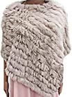 WmN FSHN Women's Faux Fur Voge Natural Look Poncho Warm Stylish Shawl WPH11, Beige