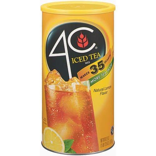 4C Lemon Iced Tea Mix - 92.8-Oz. Canister - (8 Canisters)