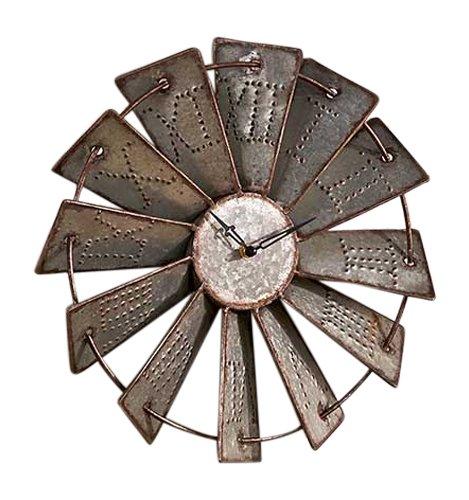 metal-windmill-wall-clock