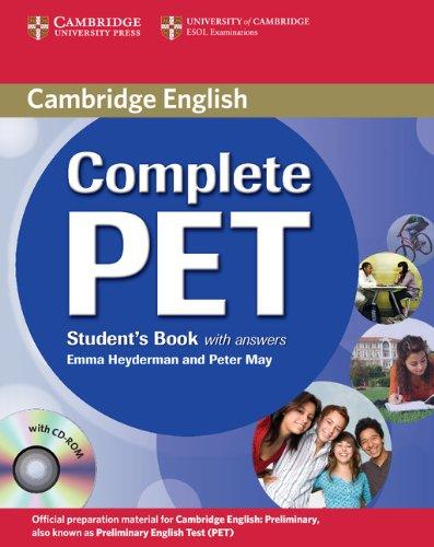 complete-pet-students-book-with-answers-per-le-scuole-superiori-con-cd-rom