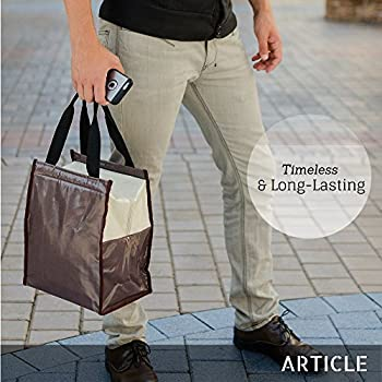 Lunch Bags for Women & Men by ARTICLE; Insulated & Reusable Tote 2