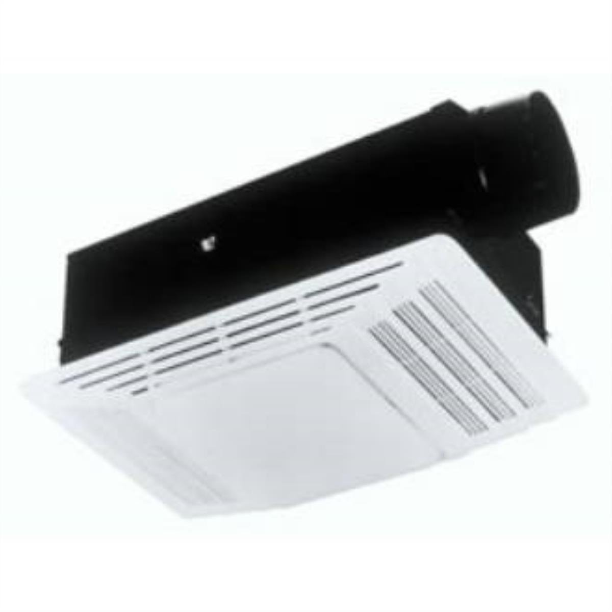 New broan 655 heater and heater bath fan with light for Heat bathroom