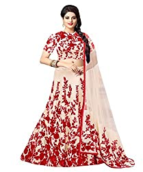 1 Stop Fashion White & Red Party Wear Lehenga Choli-SO60002