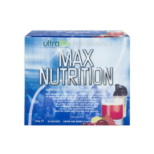 Ultralife Performance Max Nutrition 18 g Grape and Berry Energy and Recovery Drink Powder Sachets - Box of 30