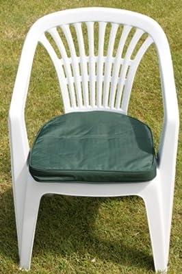 Garden Furniture Cushion- D Pad Cushion for Plastic Garden Chair in Green