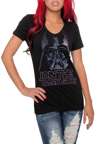 : Star Wars Dark Side Darth Vader V-Neck Girls T-Shirt