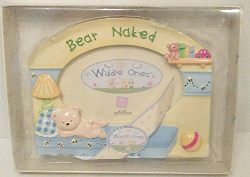 Widdle Ones Bear Naked Picture Photo Frame Ceramic Handpainted - 1