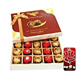 Chocholik Luxury Chocolates - 20pc Unique Combination Of Wrapped Chocolate Box With 3d Mobile Cover For IPhone...
