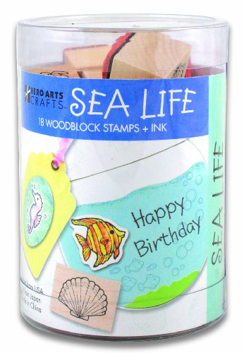 Hero Arts Ink and Stamp Set, Sea Life