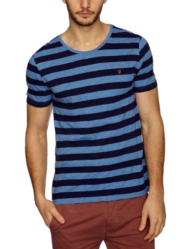 Farah Vintage The Ross Patterned Men's T-Shirt Dark Indigo Small