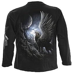Spiral - Men - LYCOS WINGS - Longsleeve T-Shirt Black by SPIRAL