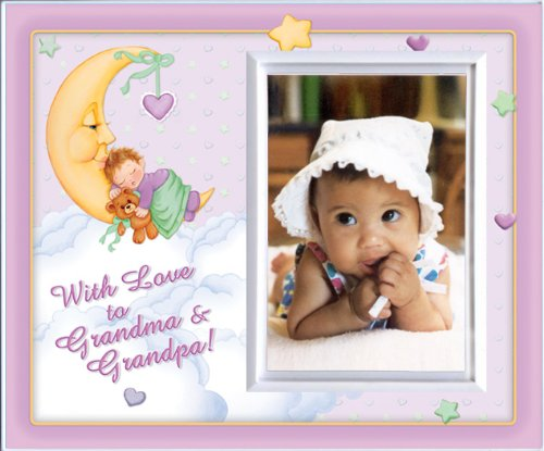 With Love to Grandma & Grandpa -Girl (MoonBaby) - Picture Frame Gift - 1