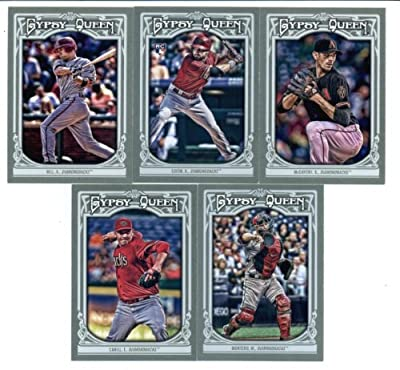 2013 Arizona Diamondbacks Topps GYPSY QUEEN Baseball Complete Mint 10 Basic Card Team Set; It Was Never Issued in Factory Form. Cards Included Are #15 Tyler Skaggs, #112 Paul Goldschmidt, #156 Cody Ross, #159 Wade Miley, #244 Ian Kennedy, #271 Adam Eaton,