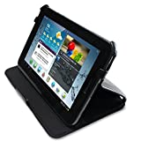 GreatShield Multi-Stand Leather Protective Folio Case for Samsung Galaxy Tab 2 7-Inch Tablet (Black)