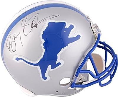 Barry Sanders Detroit Lions Autographed Pro-Line Riddell Authentic Helmet - Fanatics Authentic Certified