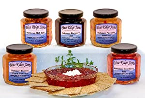 Habanero Pepper Jelly, Jams, and Preserves Variety Pack, Set of 6 (10 oz Jars)