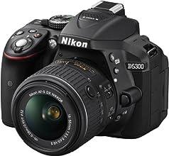 "Nikon D5300 - Cámara réflex digital de 24.2 Mp (Pantalla 3.2"", estabilizador óptico, vídeo Full HD), negro - kit cuerpo con objetivo Nikkor AF-S DX 18-55 mm f:3.5 VR II"