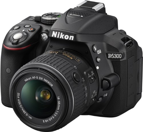Nikon D5300 Digital SLR with 18-55mm VR II Compact Lens Kit – Black (24.2 MP) 3.2 inch LCD