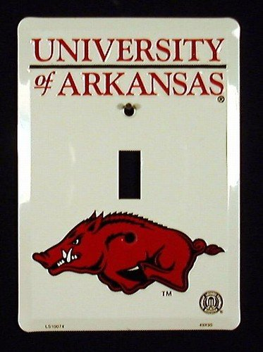 Pride Plates Arkansas Razorbacks Light Switch Cover (Single) Pride Plates Arkansas Razorbacks Light - 1