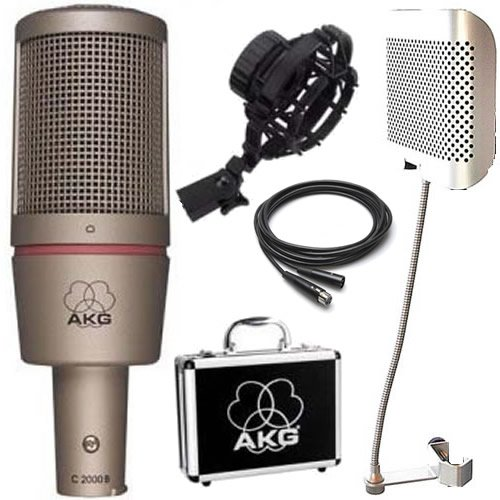 Akg C2000 Studio Condenser Mic W/ Post Audio Arf-42 Filter And 25' Mic Cable