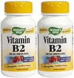 Nature'S Way Vitamin B2, 100 Capsules (Pack Of 2)