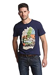 WeSC Men's Sweden Inter Regio T Shirt, Peacoat, S
