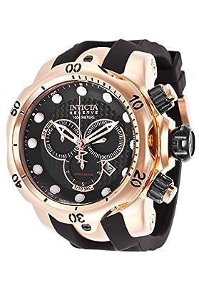 Invicta Men's ILE0361ASYB Venom Analog Display Swiss Quartz Black Watch