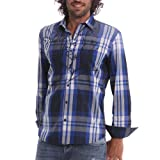 [XL・XXL・3XL]DESIGUAL(デシグアル) カジュアルシャツ(Javi) 42c1215 大きいサイズ メンズ【5131.ネイビー-XXL】