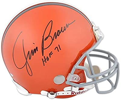 Cleveland Browns Jim Brown Hall of Fame Autographed Helmet - Fanatics Authentic Certified - Autographed NFL Helmets