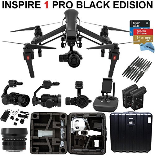 DJI-Inspire-1-PRO-Black-Edition-Bundle-with-Zemuse-X5-4K-Camera-2-Batteries-Professional-Hard-Case-64GB-Extreme-MicroSD-Card-and-more