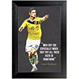 Men Cry Too Especially When They Put All Their Faith In Something By James Rodriguez Wall Frame Poster Quotes & Motivation ,(12X18) BY Vprint