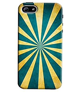 Blue Throat Normal Stripes Pattern Hard Plastic Printed Back Cover/Case For Apple iPhone 5s