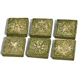 Miniature Fairy Garden Stepping Stones Ancient Square Set of 6