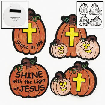 1 X Color Your Own Christian Pumpkin Fuzzy Magnets - Sunday School & Crafts for Kids (Christian Crafts For Kids compare prices)